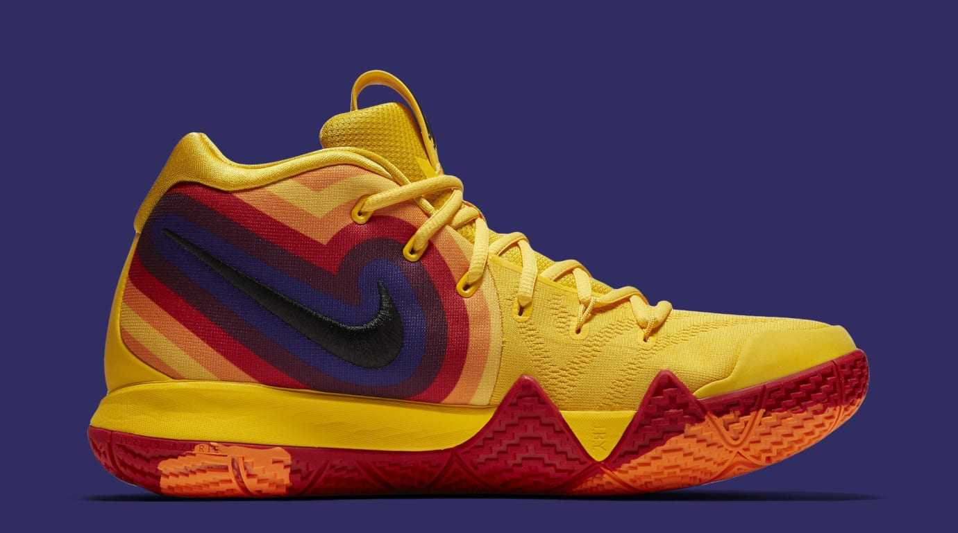 27f316e5d7d5 Image via Nike Nike Kyrie 4 EP  Yellow Multicolor  943807-700 (Medial)