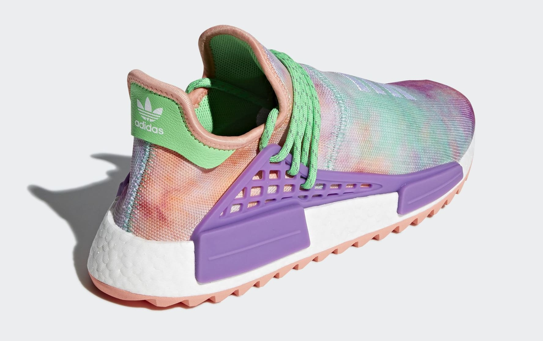 new style 338dd ea835 Pink GlowFlash Green-Lab Purple ... cheap air sneaker cb951 b6b3e Pharrell  x Adidas NMD HU Trail Holi AC7034 ...