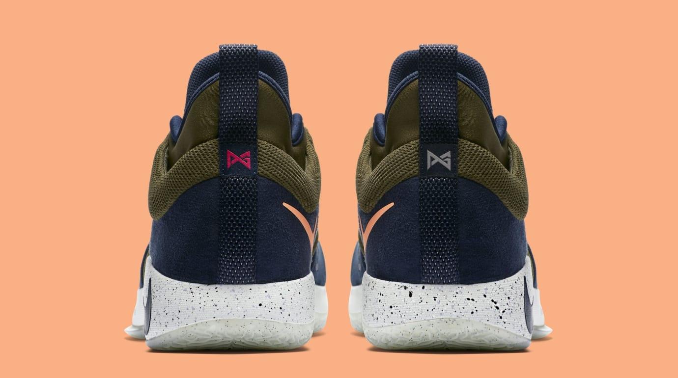 Nike PG2 'Olive Canvas/Obsidian-Light Silver' (Heel)