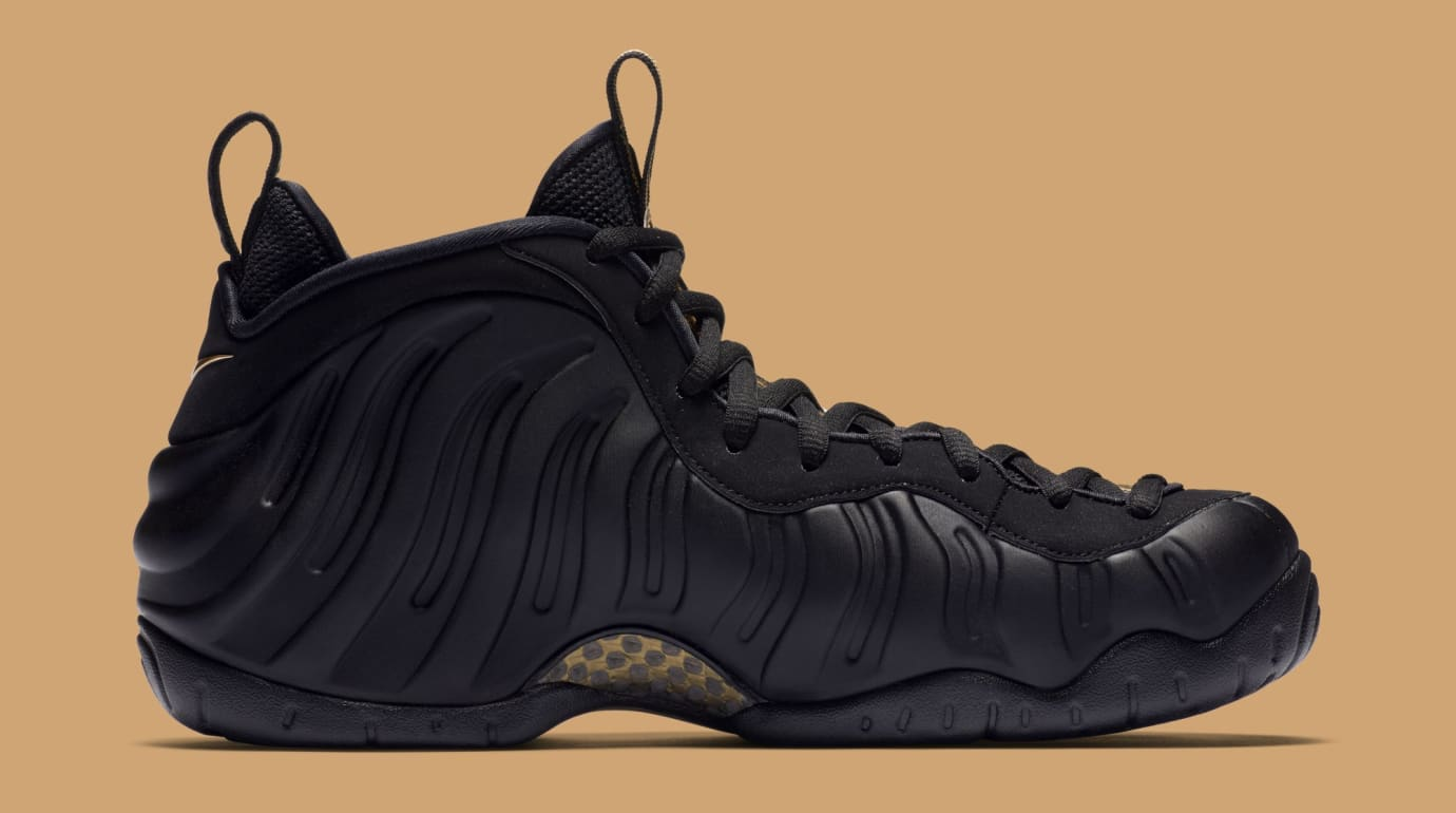 ffd39295552 Image via Nike Nike Air Foamposite Pro  Black Metallic Gold  624041-009  (Medial)