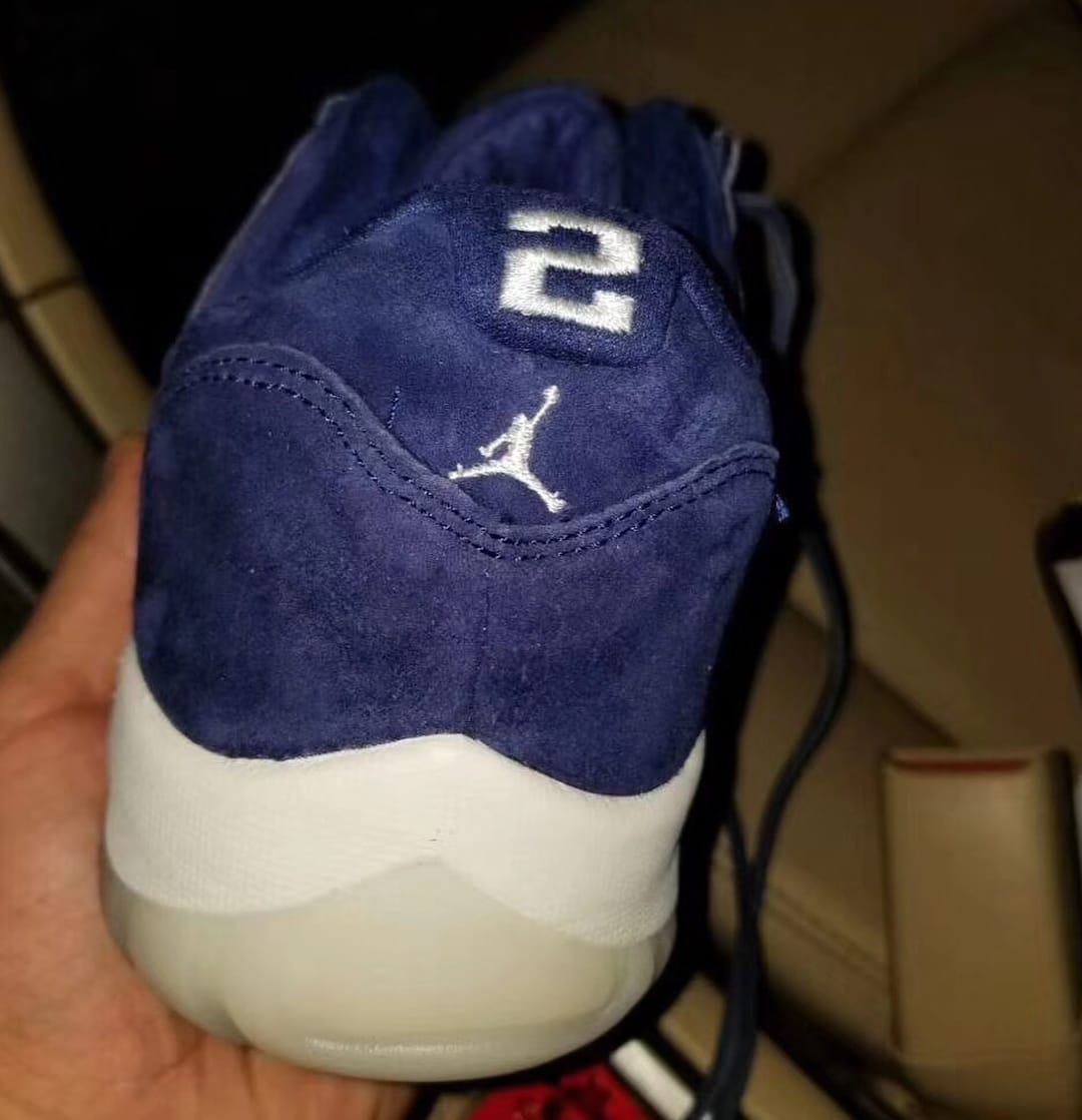 Air Jordan 11 XI Low Derek Jeter Yankees Re2pect Release Date Heel
