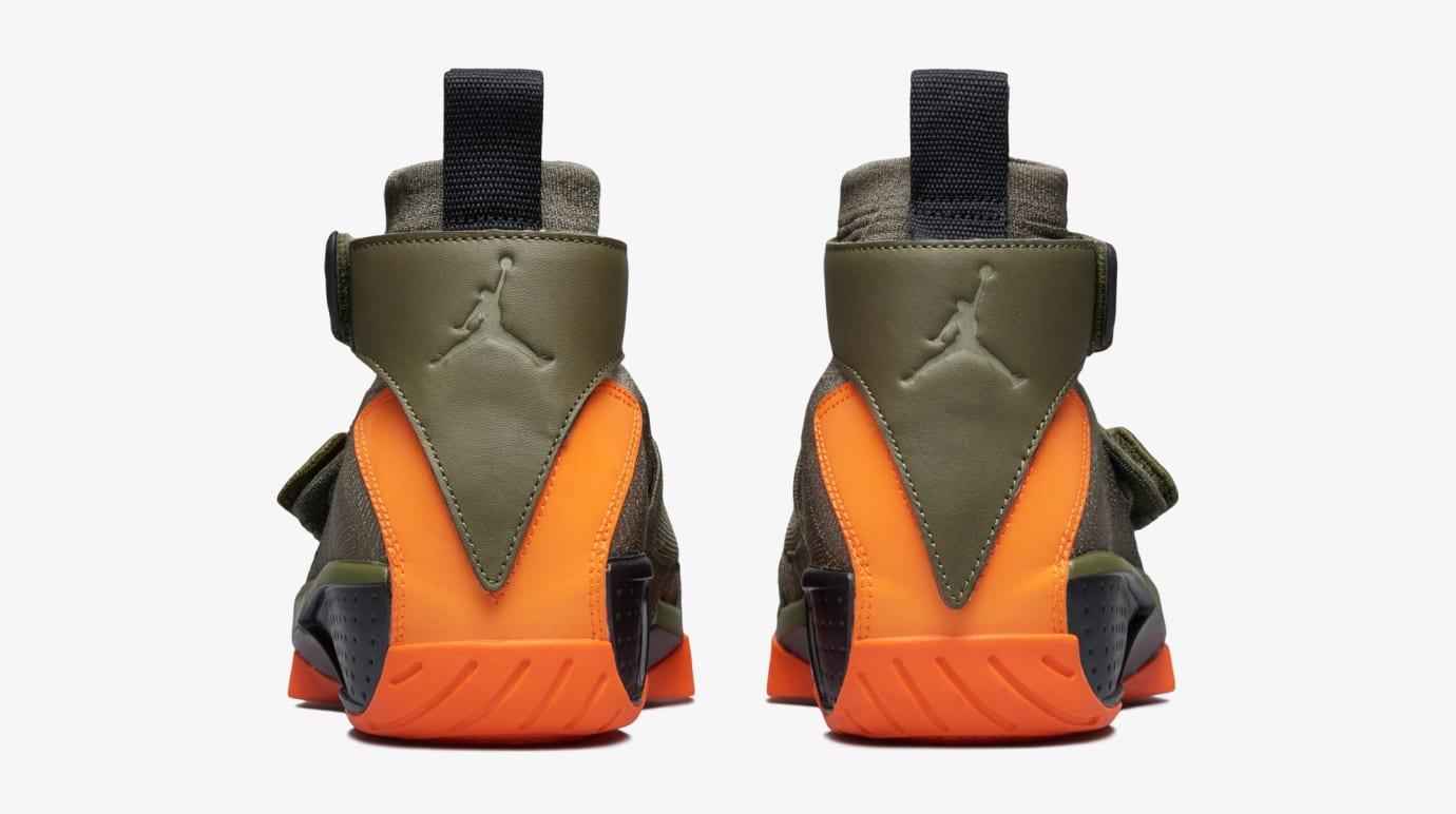85ab36f0e79c Image via US11 · Air Jordan 20 Flyknit  Melo Olive Orange  (Heel)