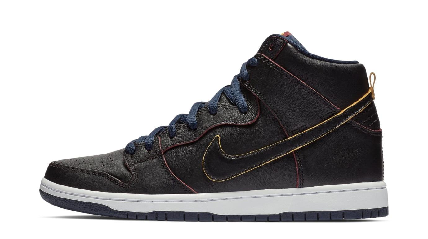 NBA x Nike SB Dunk High 'Cleveland Cavaliers' BQ6392-001 (Lateral)