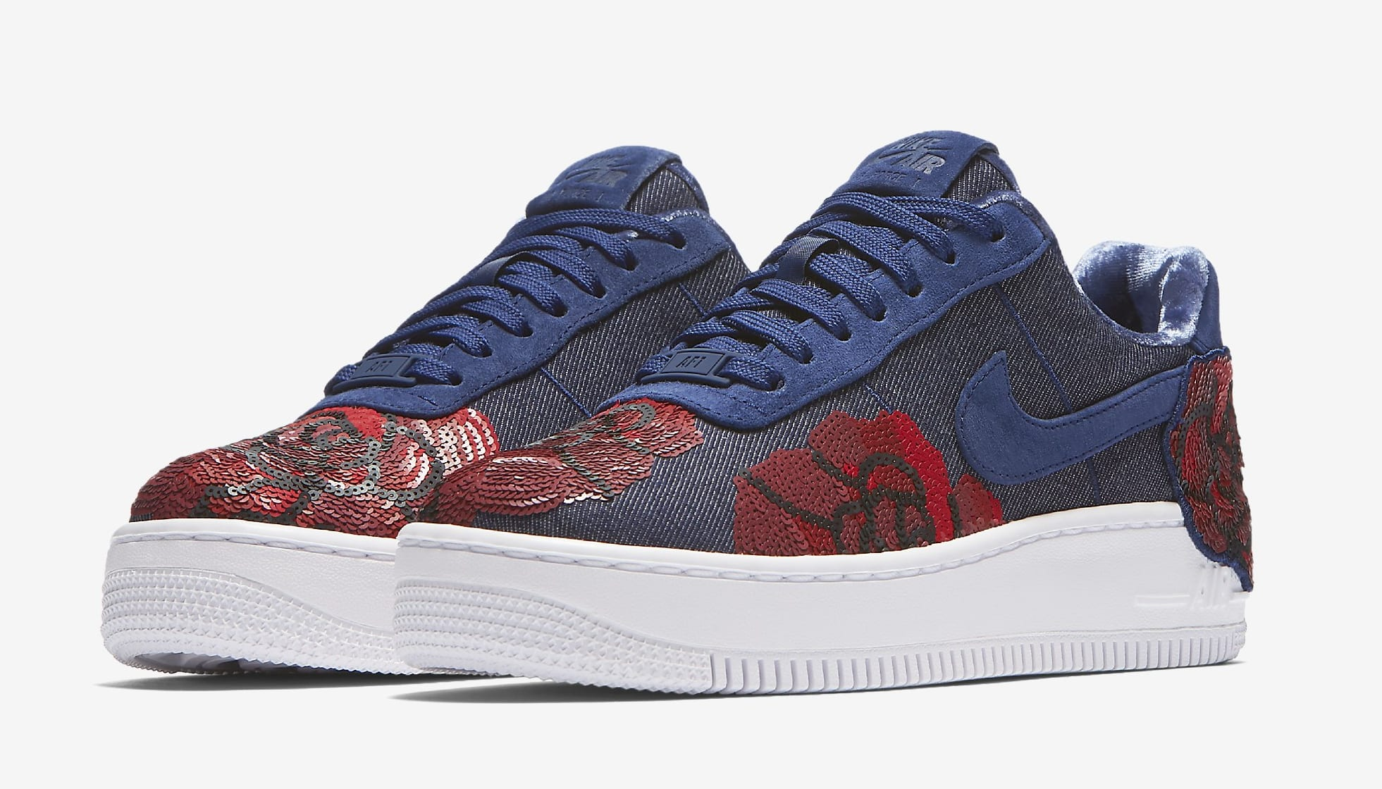 the best attitude b2a9f 37e0b ... Image via Nike Nike Air Force 1 Low Floral Sequin Pack 898421-401 (Pair  ...