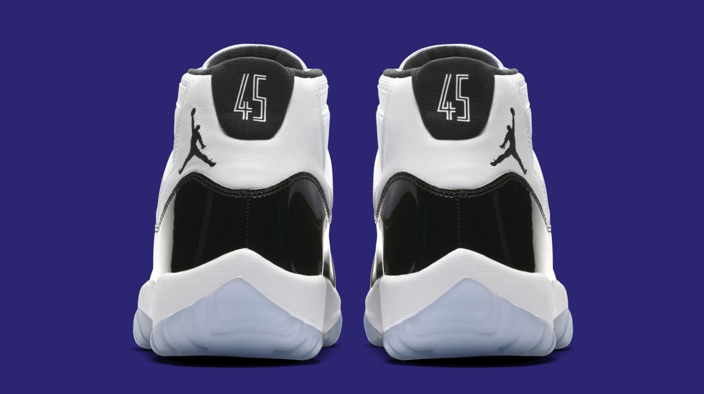 e070dad0610b Image via Nike Air Jordan 11  Concord  378037-100 (Heel)