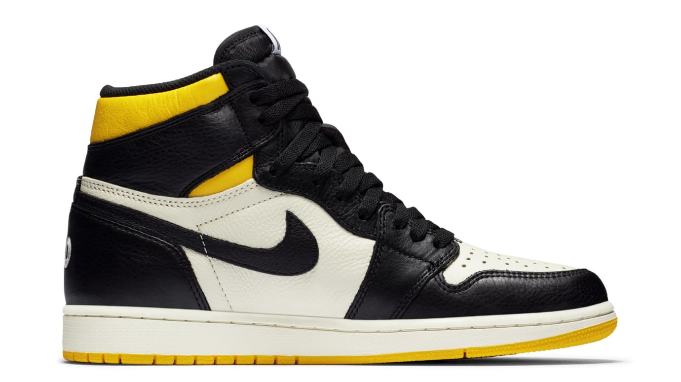 Air Jordan 1 High OG 'No Ls' Yellow 861428-107 (Medial)
