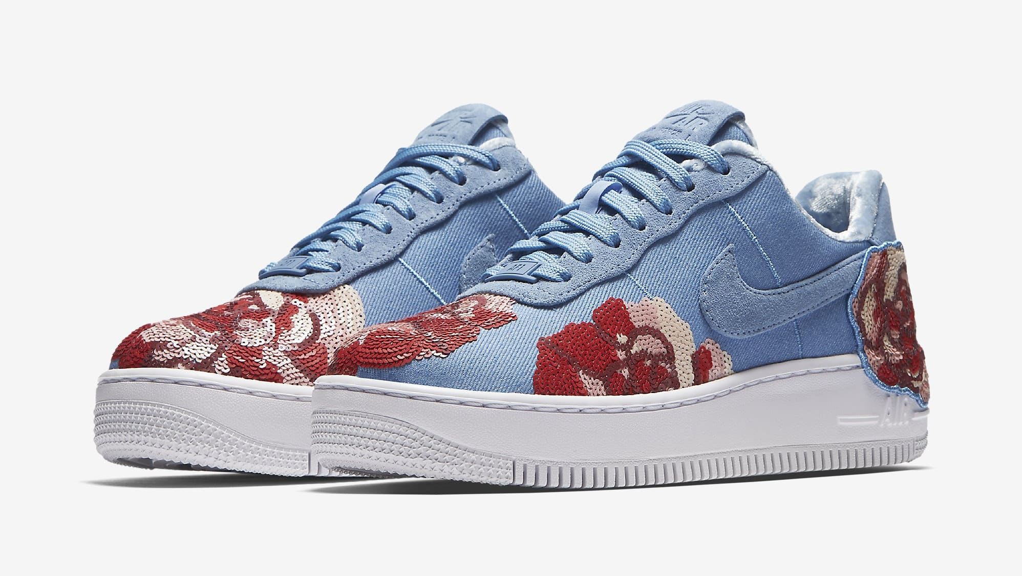 Nike Air Force 1 Low Floral Sequin Pack 898421-402 (Pair)