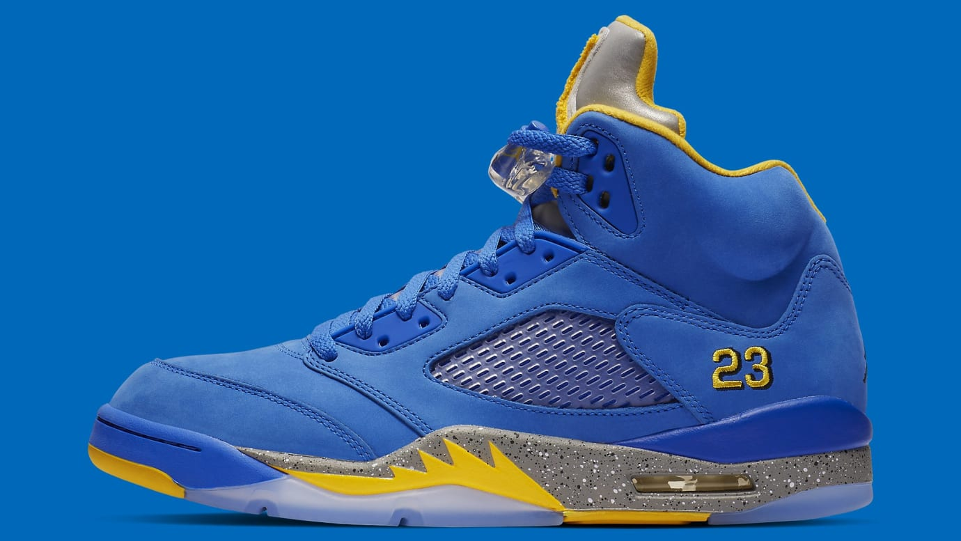 8cf3c6017660ae Air Jordan 5 JSP Laney  Varsity Maize     Varsity Royal  Release ...