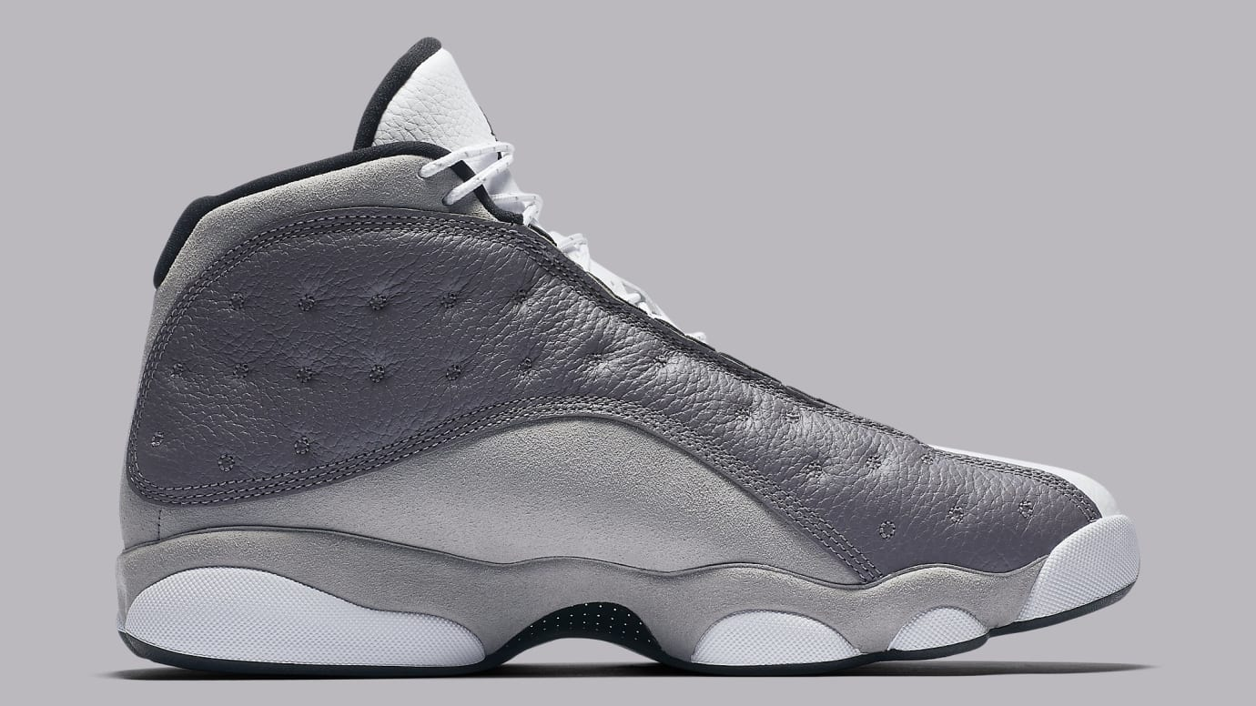 7cc8ba512e2cd3 Image via Nike Air Jordan 13 XIII Atmosphere Grey Release Date 414571-016  Medial