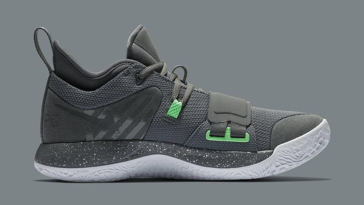 Nike PG 2.5 Grey Green Release Date BQ8452-007 Medial