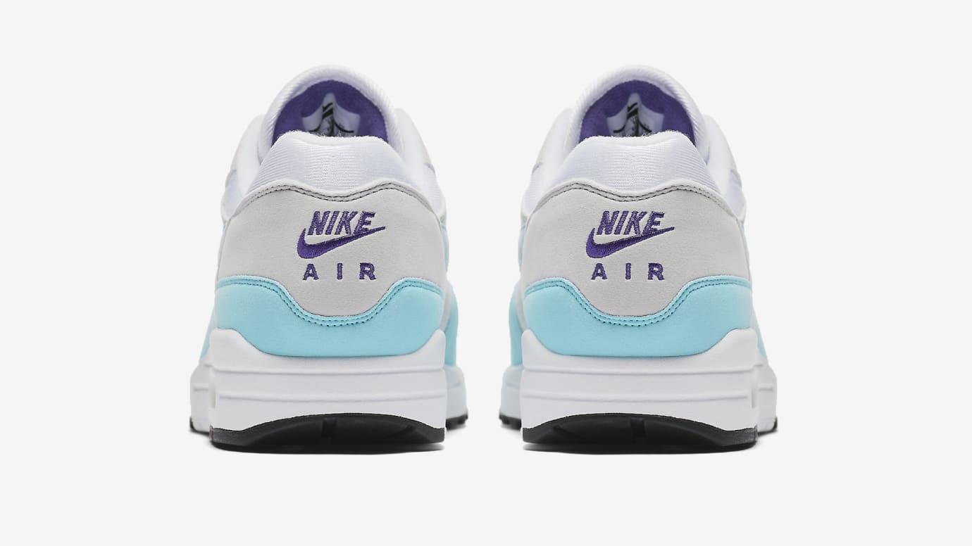 4974fcdeb999 Image via Nike Nike Air Max 1 Anniversary  Aqua  908375-105 (Heel)