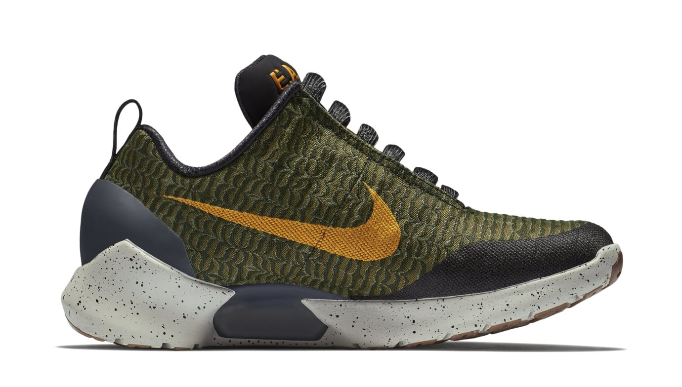 Nike HyperAdapt 1.0 'Olive Flak/Orange Peel' 843871-300 (Medial)