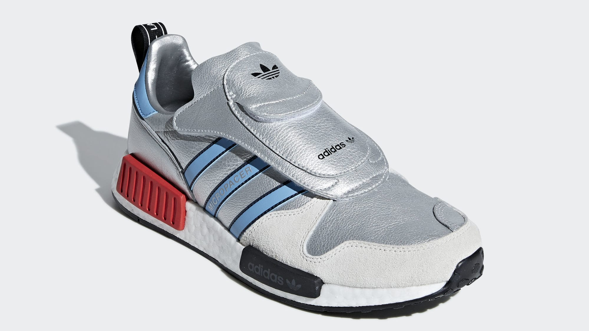 sports shoes 58f13 b5709 Adidas Micropacer NMD R1 Silver Release Date G26778 Front