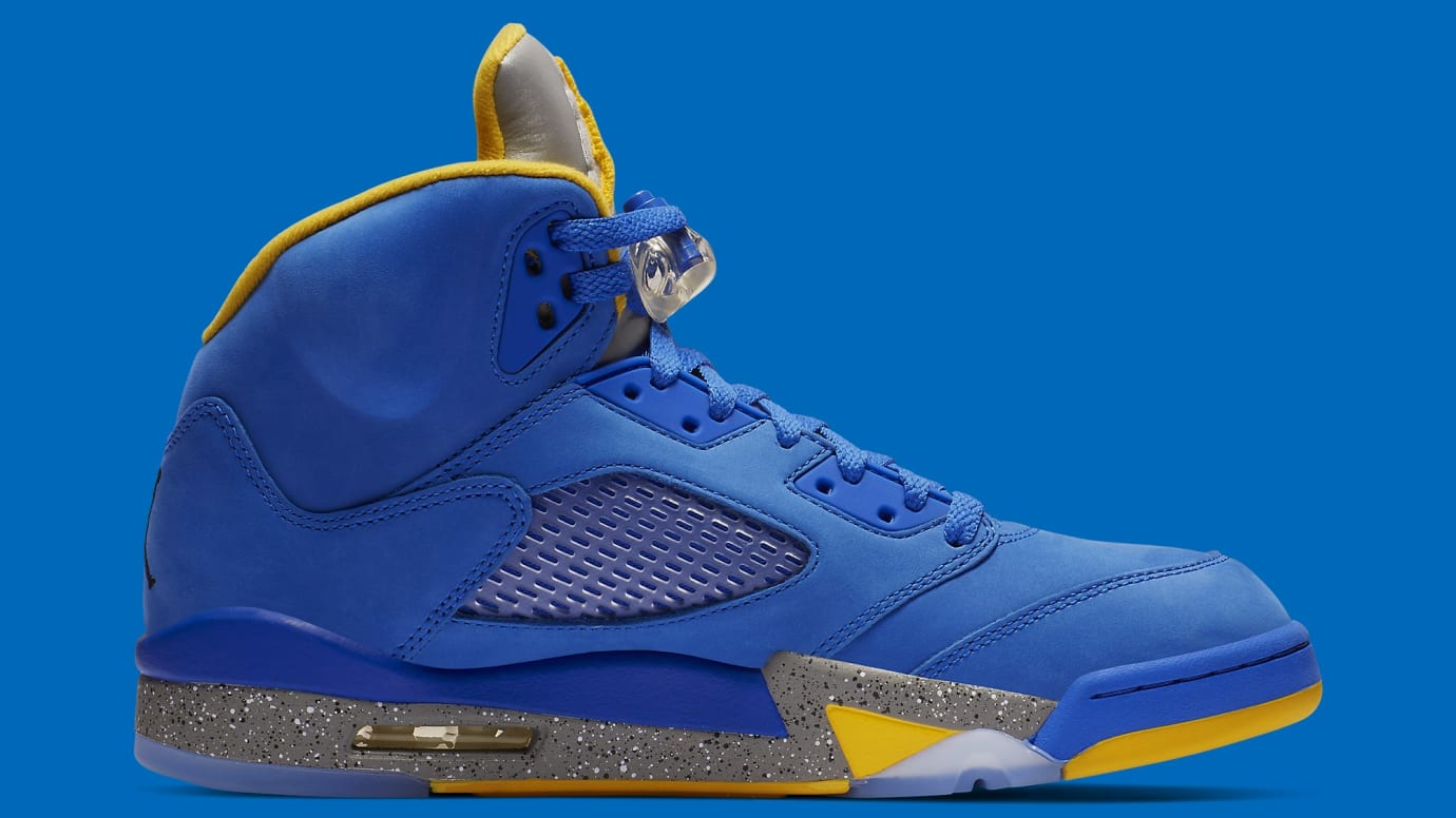 Air Jordan 5 Laney Blue Release Date CD2720-400 Medial