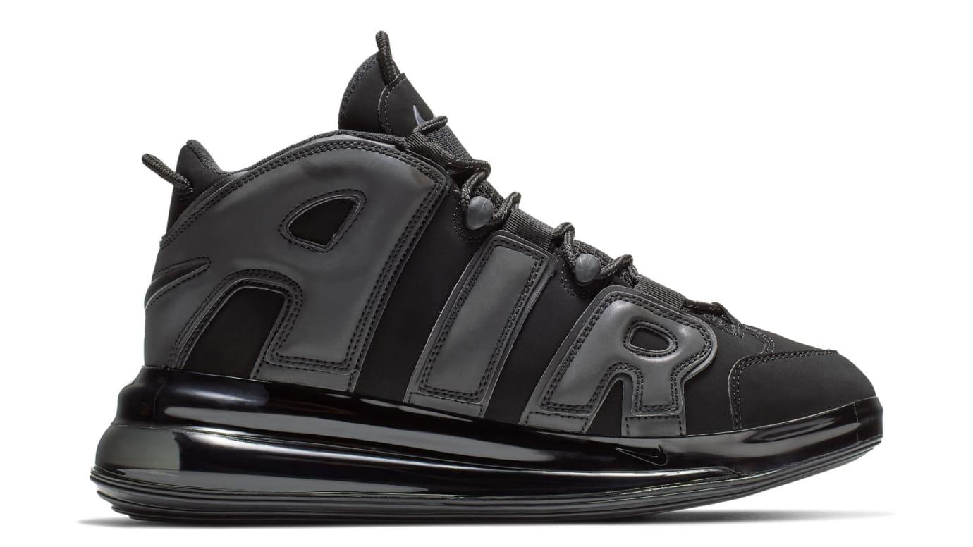 51fc521b86d Image via US 11 Nike Nike Air More Uptempo 720  Black  Medial