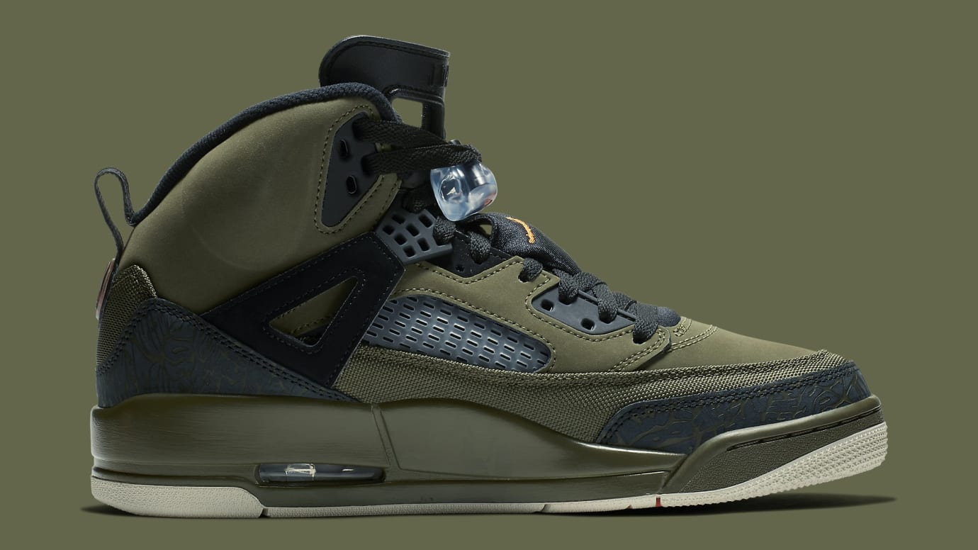 Image via Nike Jordan Spizike Undefeated Olive Green Release Date  315371-300 Medial 5b31c90a9fa