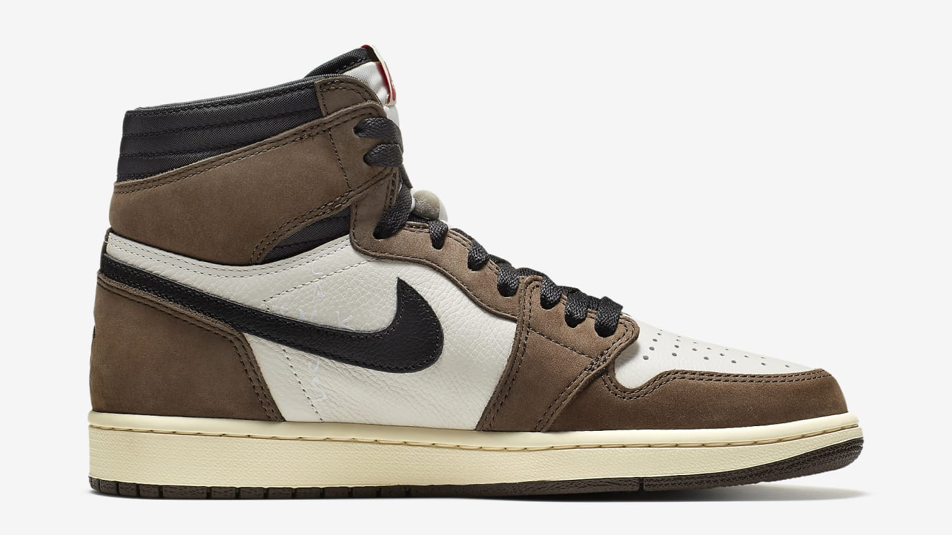 Travis Scott x Air Jordan 1 Brown Release Date CD4487-100 Medial