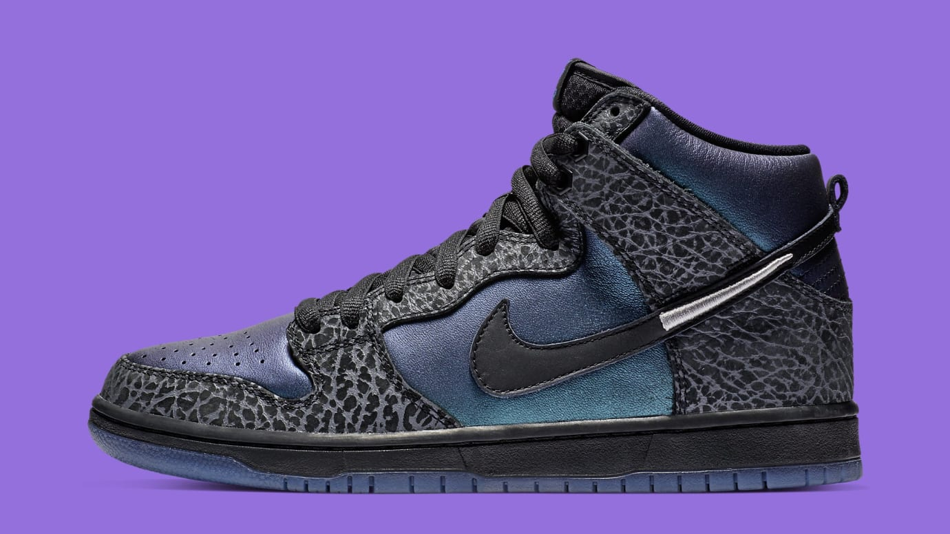 buy online 28048 88134 Black Sheep x Nike SB Dunk High Black Hornet BQ6827-001 Lateral