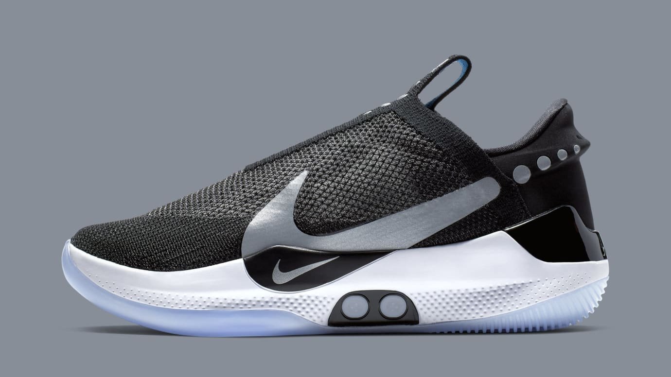 Nike Adapt BB 'Black/White/Pure Platinum' AO2582-001 (Lateral)