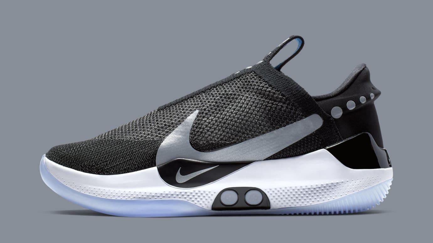 Nike Adapt Bb Black White Pure Platinum Ao2581 001 Release Date Sole Collector