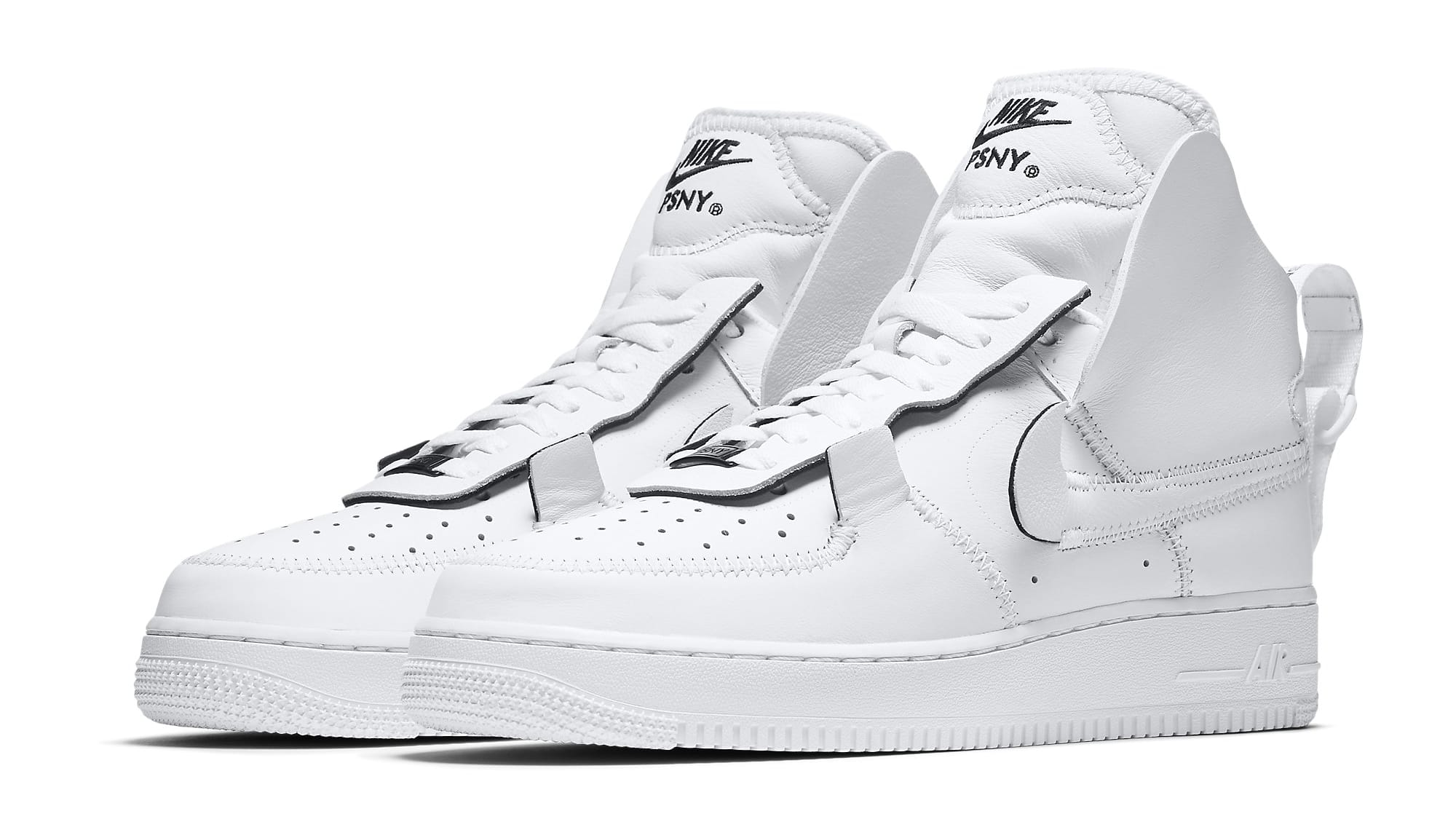 PSNY x Nike Air Force 1 High Black White Wolf Grey Release