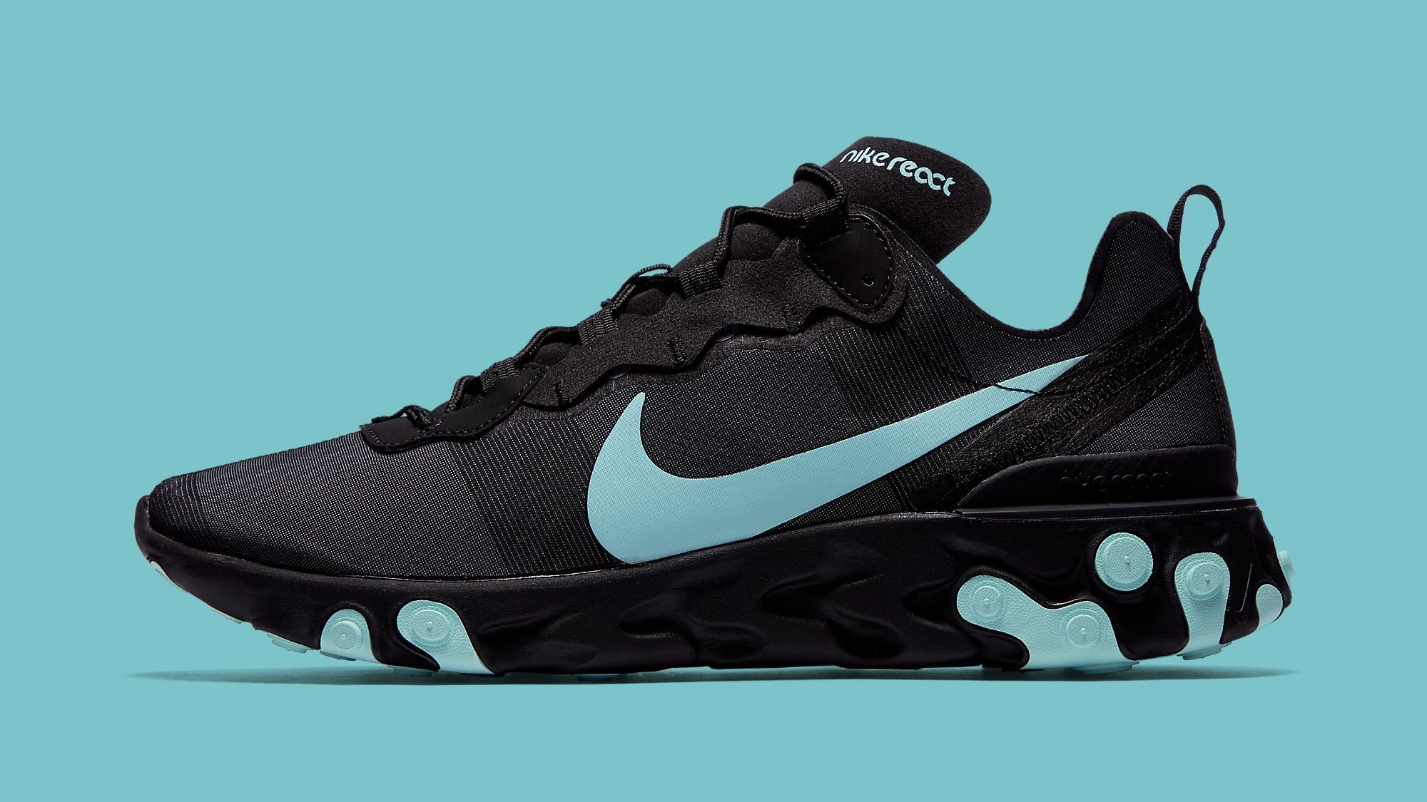 Nike React Element 55 Black Jade Release Date BQ6166-004 Profile