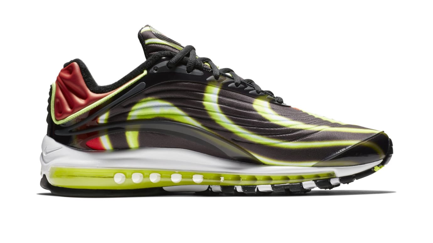 Nike Air Max Deluxe 'Black/Volt-Habanero-Red-White' AJ7831-003 Release Date