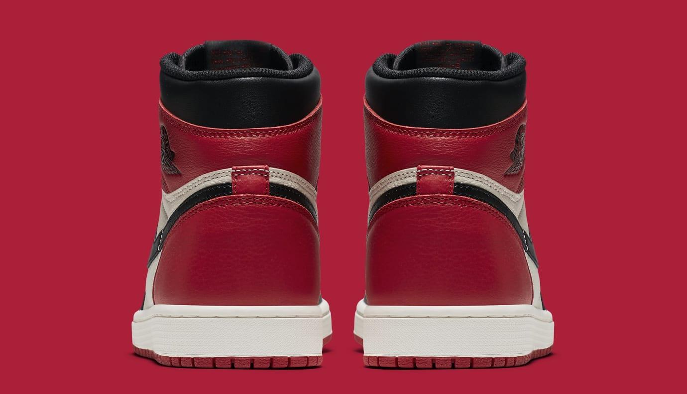 Air Jordan 1 'Bred Toe' Gym Red/Black-Summit White 555088-610 (Heel)