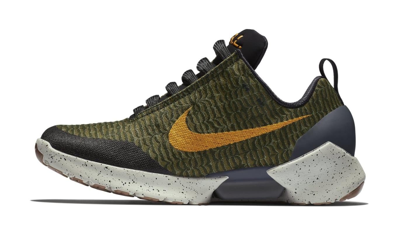 Nike HyperAdapt 1.0 'Olive Flak/Orange Peel' 843871-300 (Lateral)