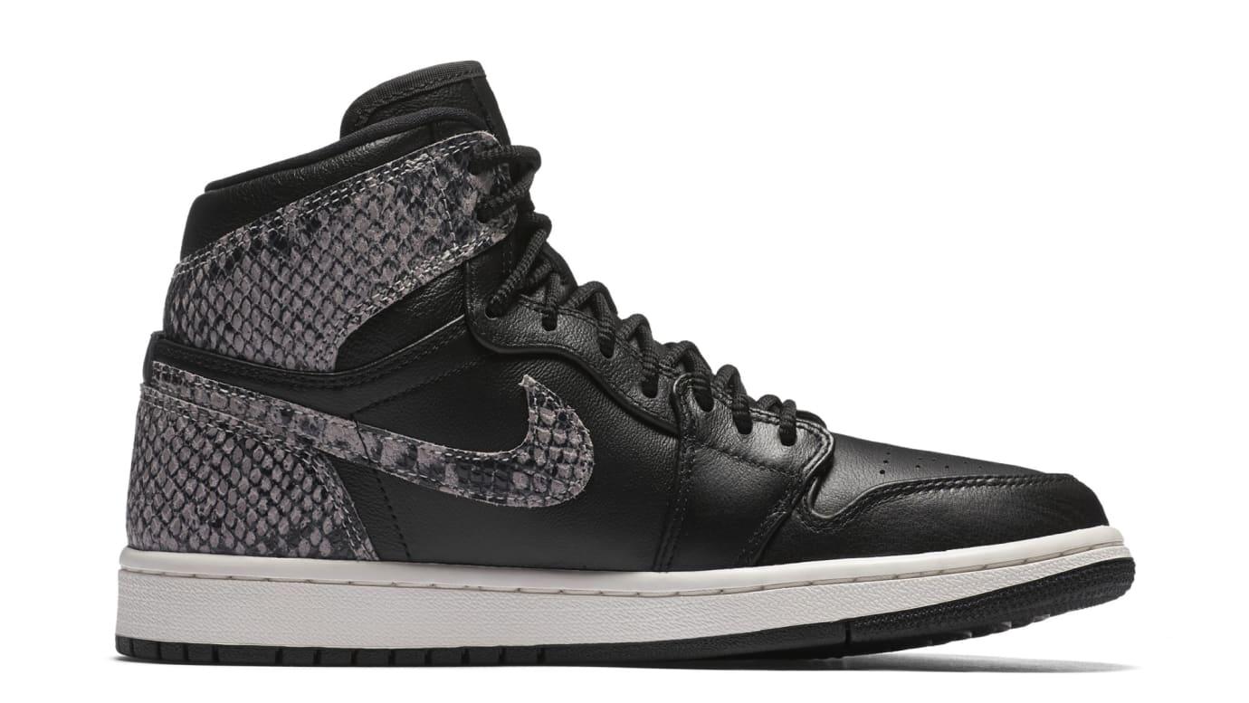 e7c790ac608935 Image via Nike Air Jordan 1 Retro High Premium Women s Snake  Black Phantom   AH7389-014