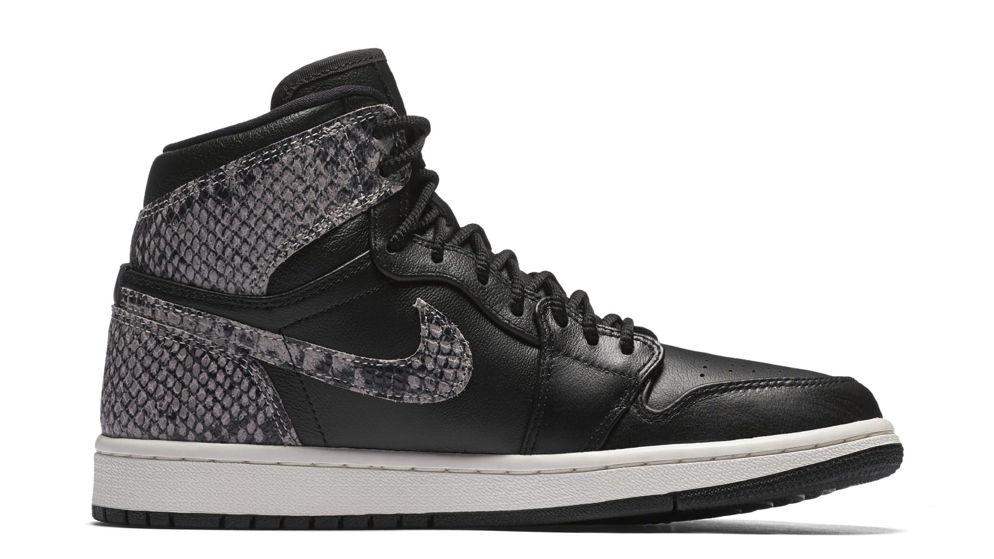 Air Jordan 1 Retro High Premium Women's Snake 'Black/Phantom' AH7389-014 (Medial)