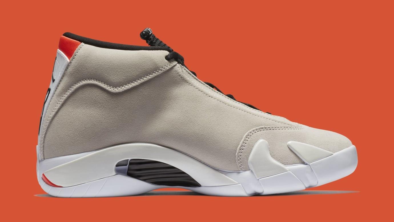 9ef1d0b65c56 Image via Nike Air Jordan 14  Desert Sand  487471-021 (Medial)