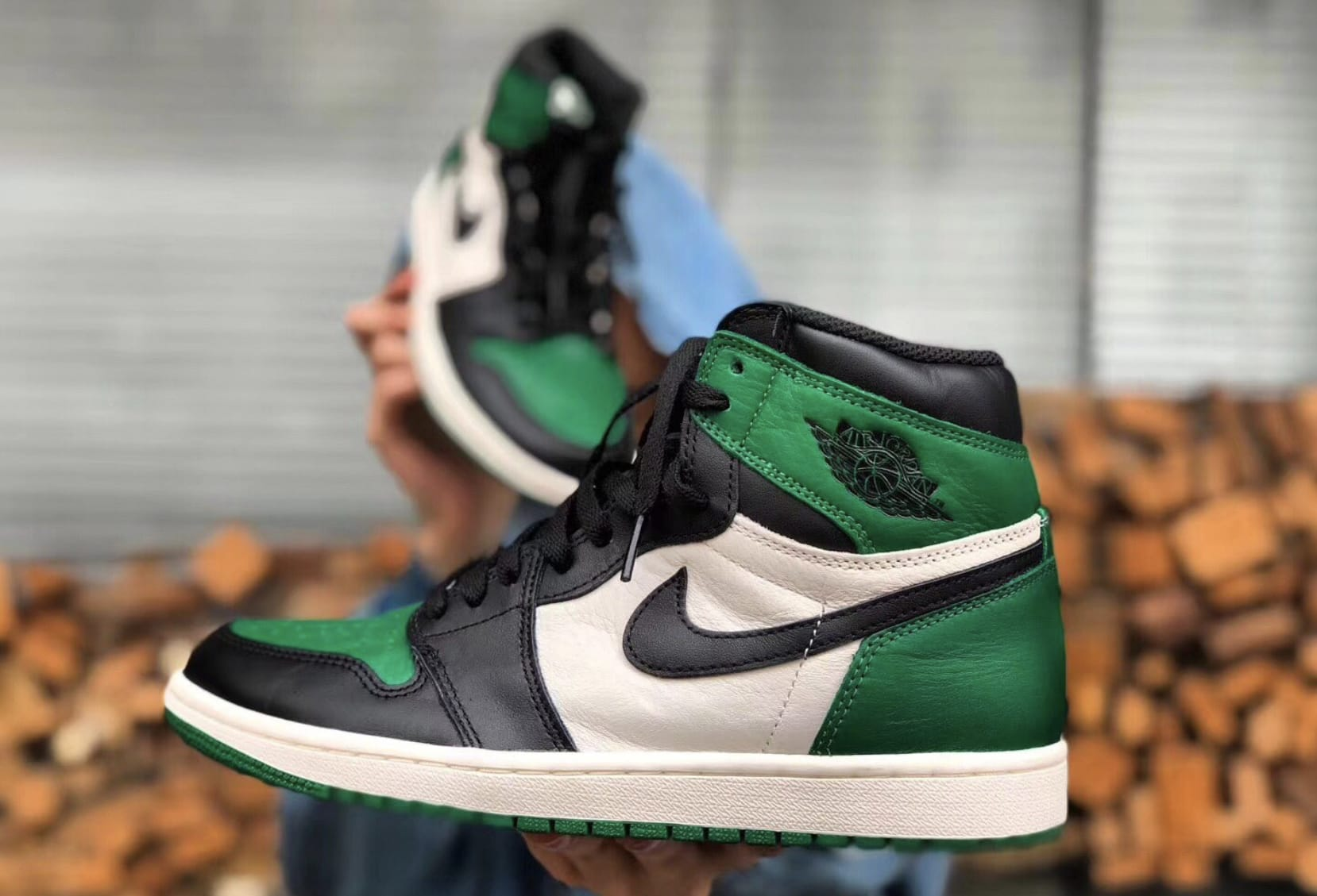 Air Jordan 1 High NRG 'Pine Green/Sail-Black' 555088-032 1