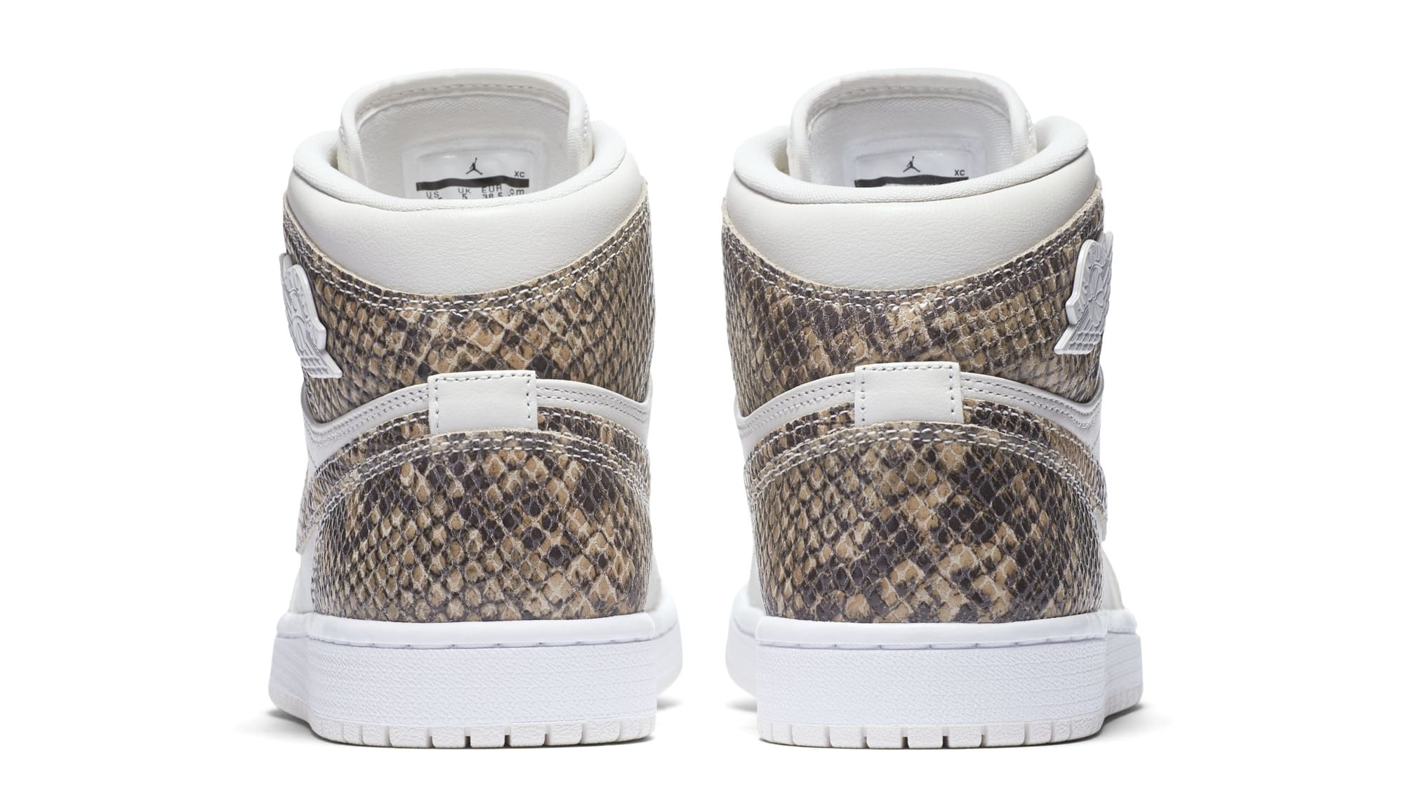Air Jordan 1 Retro High Premium Women's Snake 'Phantom/White' AH7389-004 (Heel)