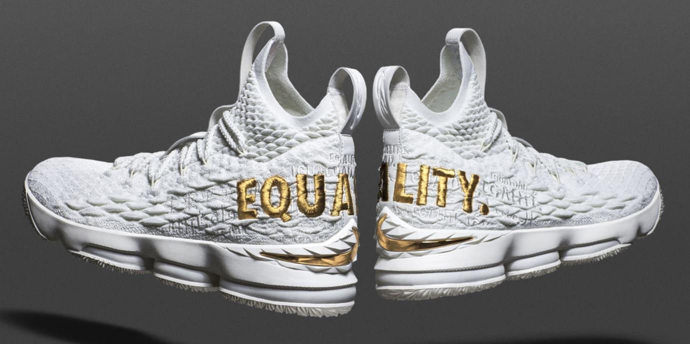 low priced 5446e 78dfd Nike LeBron 15  Equality PE White