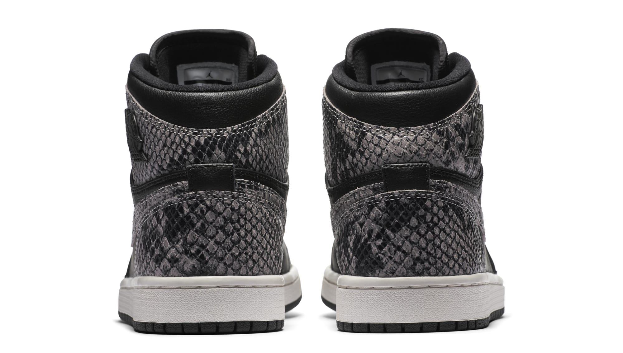 Air Jordan 1 Retro High Premium Women's Snake 'Black/Phantom' AH7389-014 (Heel)