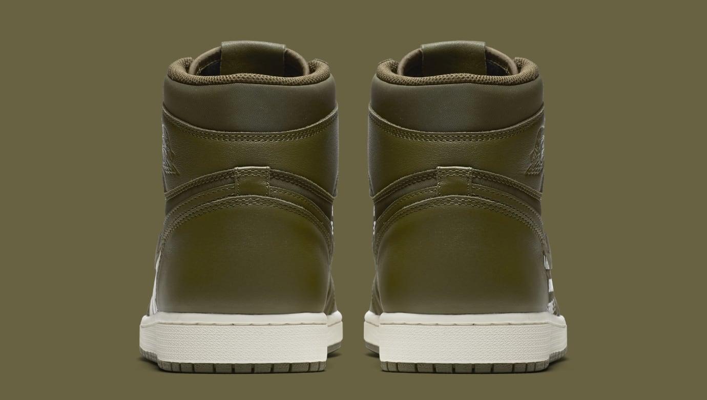 Air Jordan 1 'Nike Air Pack/Olive' 555088-300 (Heel)