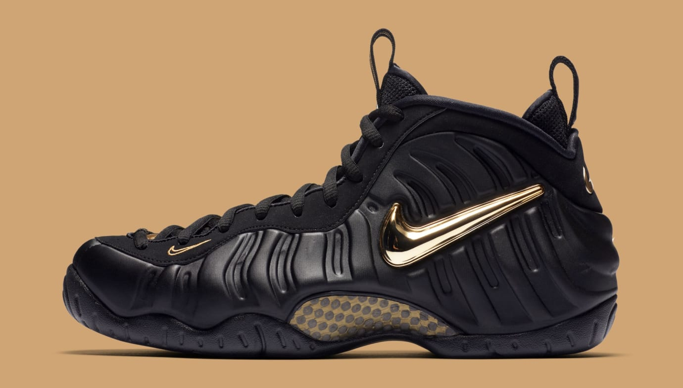 info for 8284a d78c6 Nike Air Foamposite Pro  Black Metallic Gold  624041-009 (Lateral)