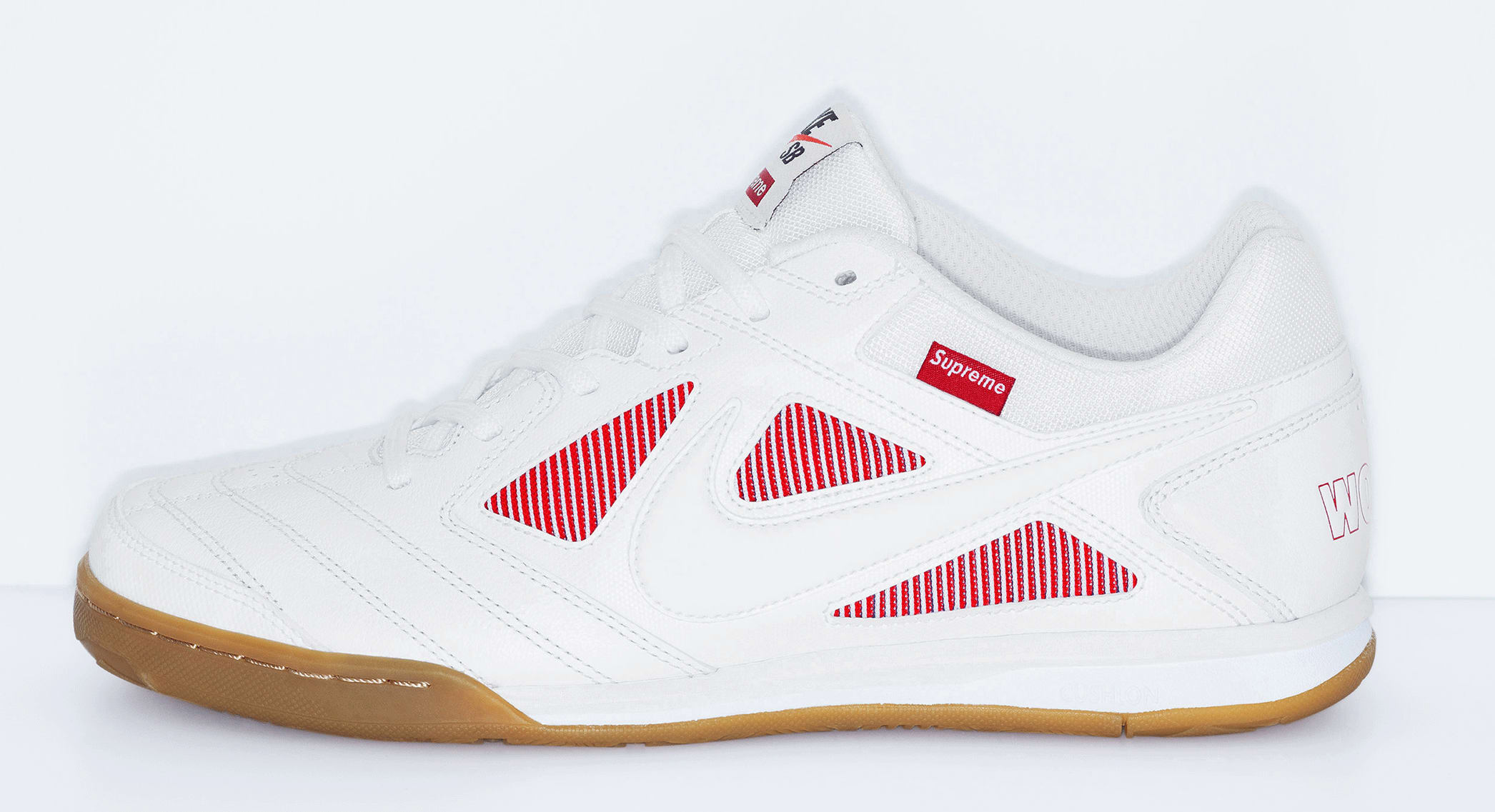 Supreme x Nike SB Gato 'White'