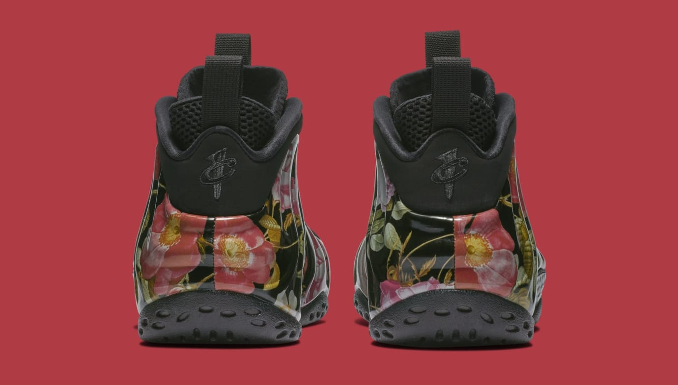 cb5e1c90df2 Image via Nike Nike Air Foamposite One  Valentine s Day Floral  314996-012  (Heel)