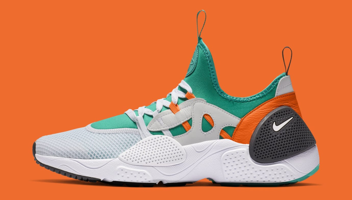 Nike Huarache E.D.G.E. TXT QS 'White/Clear Emerald/Total Orange' BQ5206-100 (Lateral)