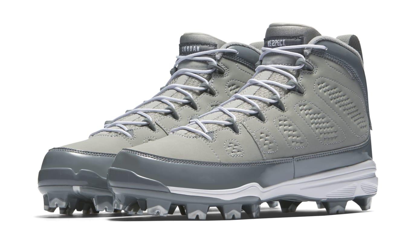 Air Jordan 9 IX MCS Baseball Cleats Cool Grey