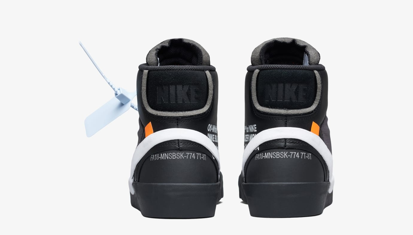 Off-White x Nike Blazer 'Grim Reeper' AA3832-001 (Heel)