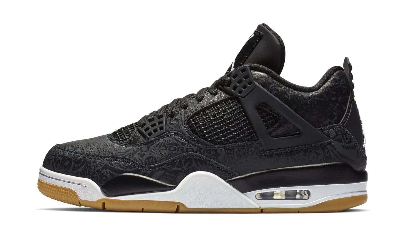 Air Jordan 4 Retro SE Laser 'Black/White/Gum Light Brown' CI-1184-001 (Lateral)