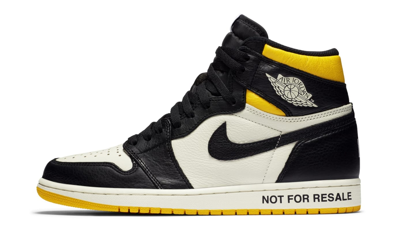 Air Jordan 1 High OG 'No Ls' Yellow 861428-107 (Lateral)