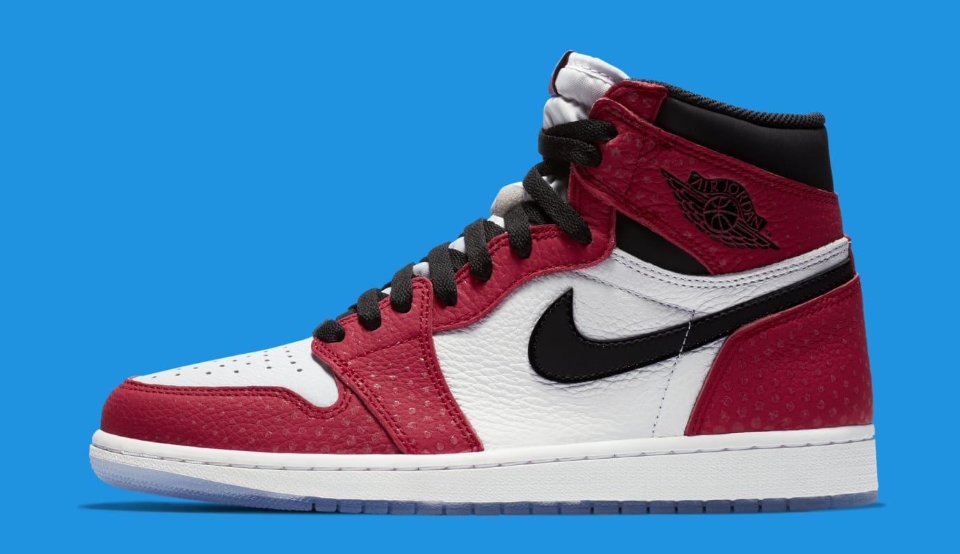 Air Jordan 1 'Origin Story' Red/White-Photo Blue-Black 555088-602 (Lateral)