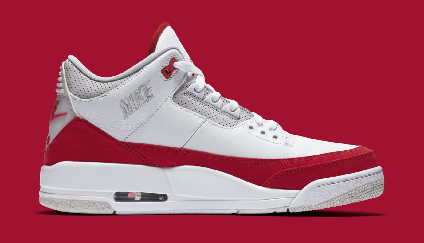 43441b8d7126e1 Air Jordan 3 TH SP  Katrina  White University Red-Neutral Grey ...