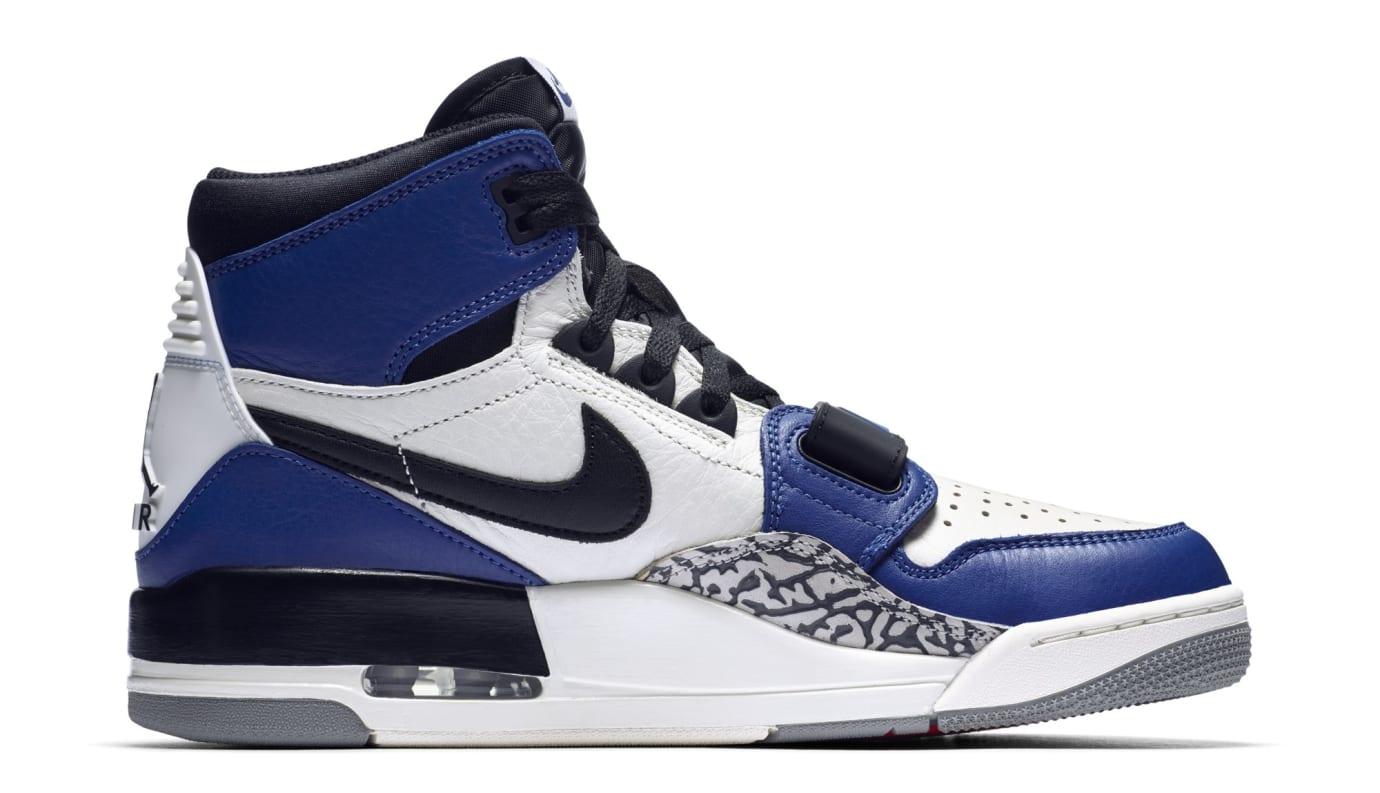 promo code 6526a 134e8 Image via Nike Don C x Jordan Legacy 312  Storm Blue  AQ4160-104 (Medial)