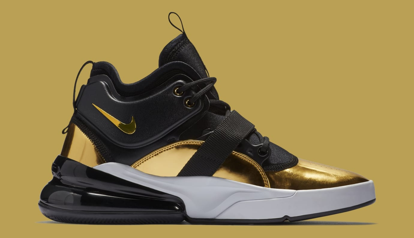 14691c8dfe894 Image via Nike Nike Air Force 270  Gold Standard  AT5752-700 (Medial)