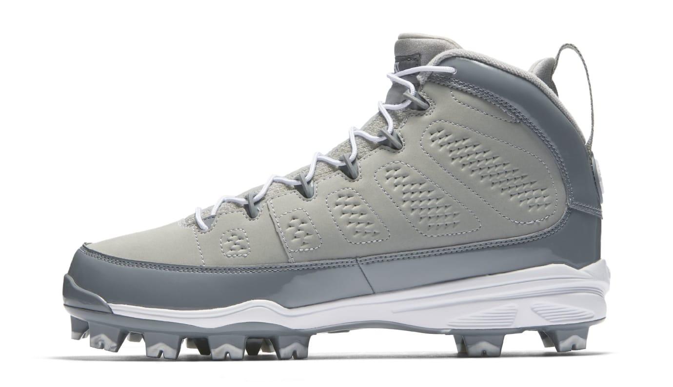 Air Jordan 9 IX MCS Baseball Cleats Cool Grey Medial